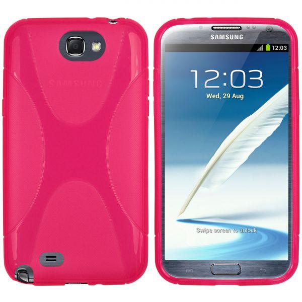 TPU Hülle X-Design pink transparent für Samsung Galaxy Note 2