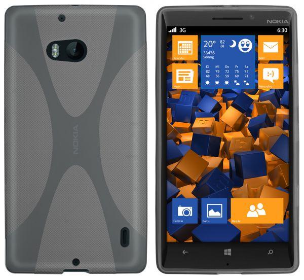 TPU Hülle X-Design schwarz transparent für Nokia Lumia 930