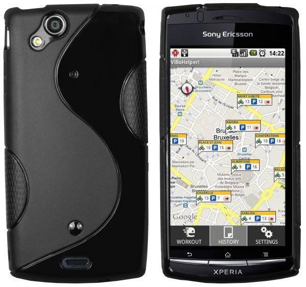 TPU Hülle S-Design schwarz für Sony Ericsson Xperia Arc / Arc S
