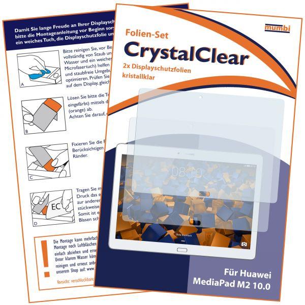Displayschutzfolie 2 Stck. CrystalClear für Huawei MediaPad M2 10.0