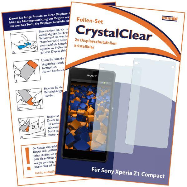 Displayschutzfolie 2 Stck. CrystalClear für Sony Xperia Z1 Compact