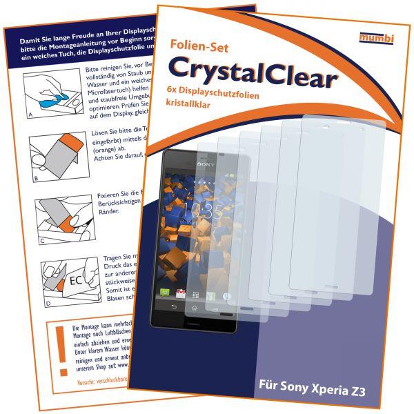 Displayschutzfolie 6 Stck. CrystalClear für Sony Xperia Z3 / Z3 Dual