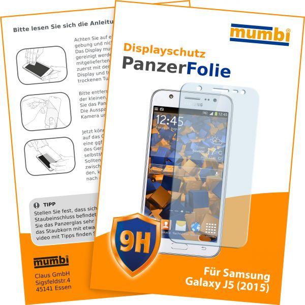 Panzerglasfolie Hartglas 9H für Samsung Galaxy J5 (2015)
