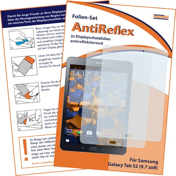 Displayschutzfolie 2 Stck. AntiReflex für Samsung Galaxy Tab S2 (9,7 Zoll)