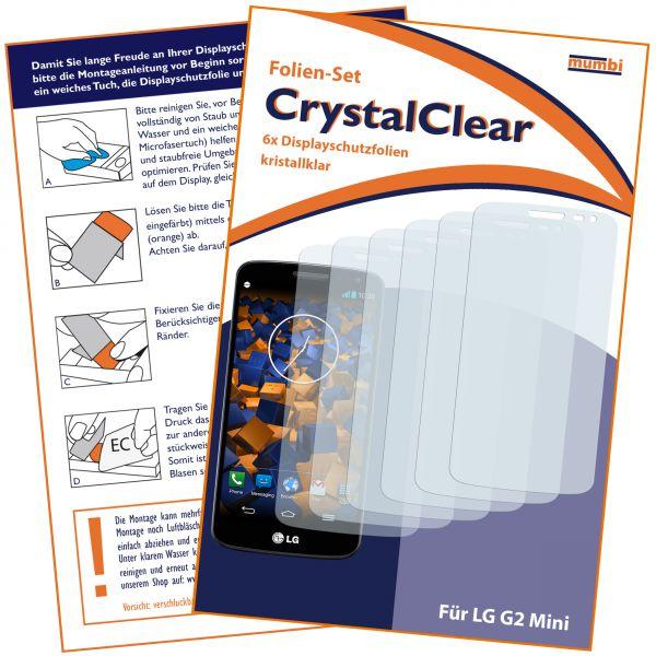 Displayschutzfolie 6 Stck. CrystalClear für LG G2 Mini