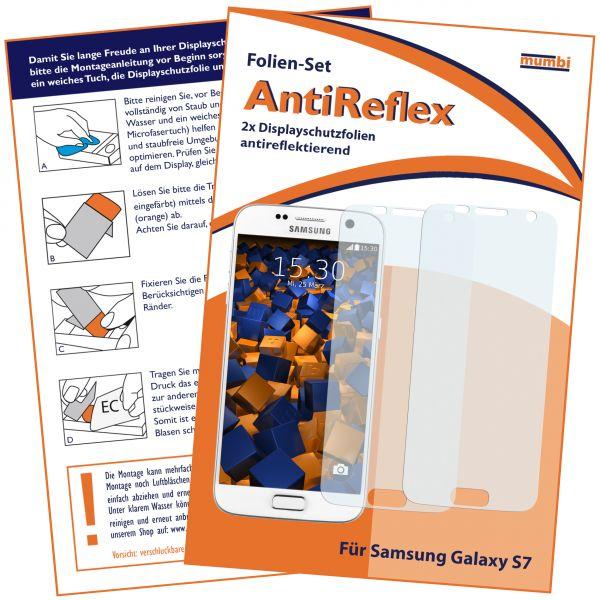 Displayschutzfolie 2 Stck. AntiReflex für Samsung Galaxy S7