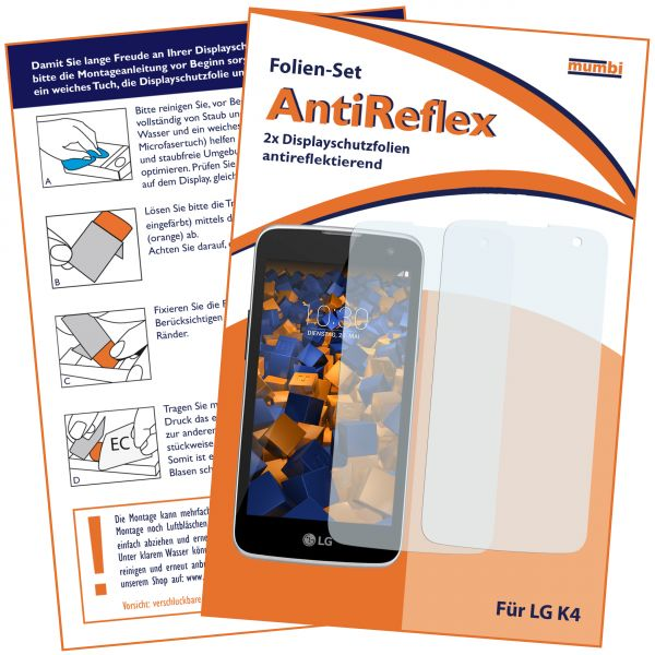 Displayschutzfolie 2 Stck. AntiReflex für LG K4