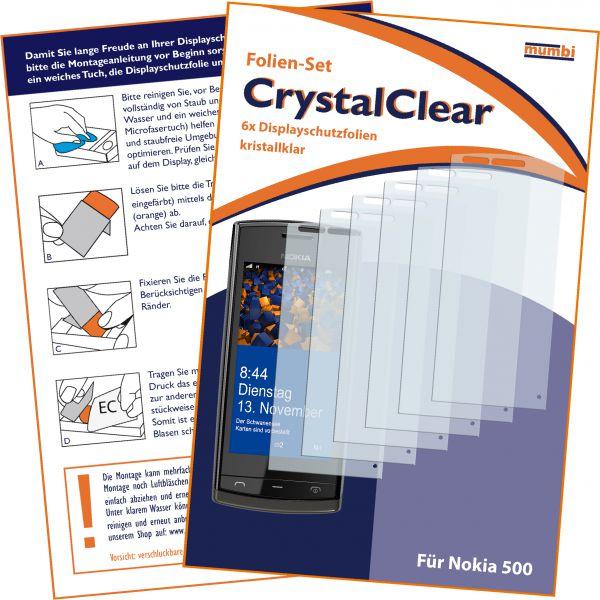 Displayschutzfolie 6 Stck. CrystalClear für Nokia 500