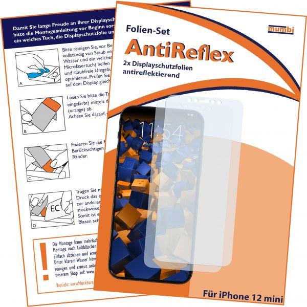 Displayschutzfolie 2 Stck AntiReflex für Apple iPhone 12 mini