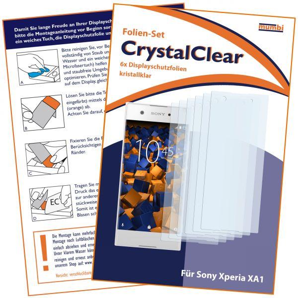 Displayschutzfolie 6 Stck. CrystalClear für Sony Xperia XA1