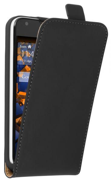 Flip Case Tasche schwarz für Huawei Ascend Y550