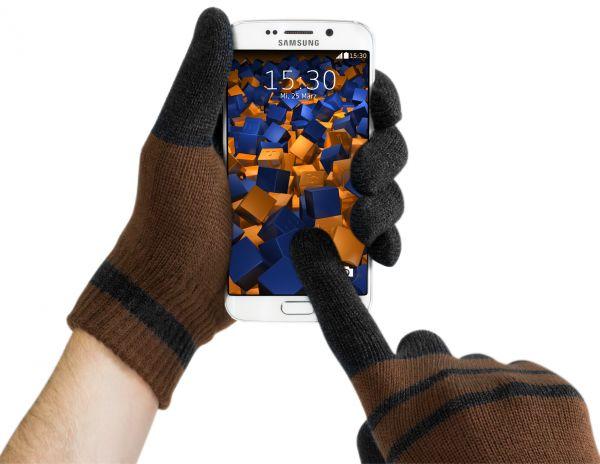 Touchscreen Handschuhe für kapazitive Displays Größe L schwarzbraun
