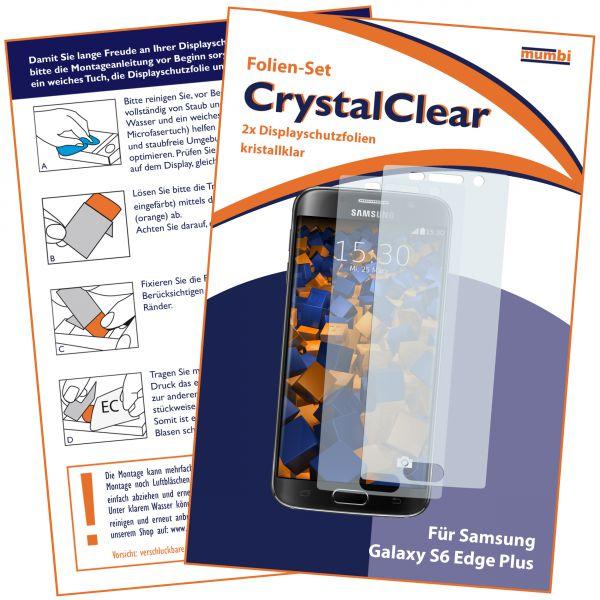 Displayschutzfolie 2 Stck. CrystalClear für Samsung Galaxy S6 Edge Plus