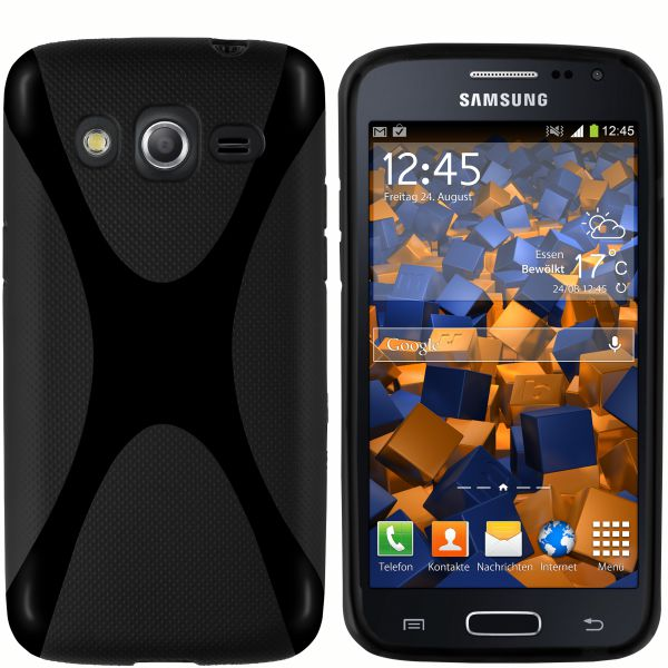 TPU Hülle X-Design schwarz für Samsung Galaxy Core LTE