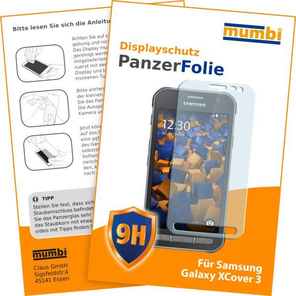 Panzerglasfolie Hartglas 9H für Samsung Galaxy XCover 3