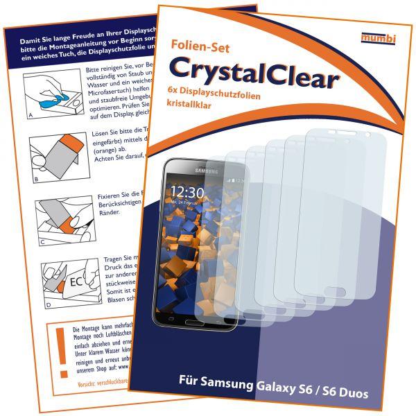 Displayschutzfolie 6 Stck. CrystalClear für Samsung Galaxy S6 / S6 Duos