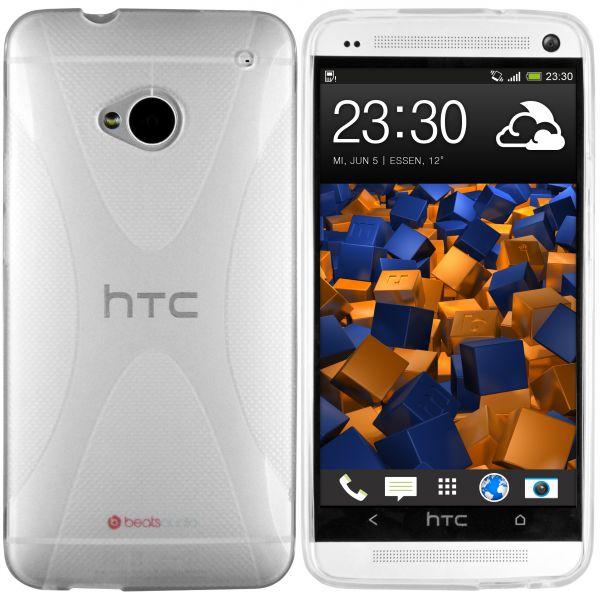TPU Hülle X-Design transparent weiß für HTC One