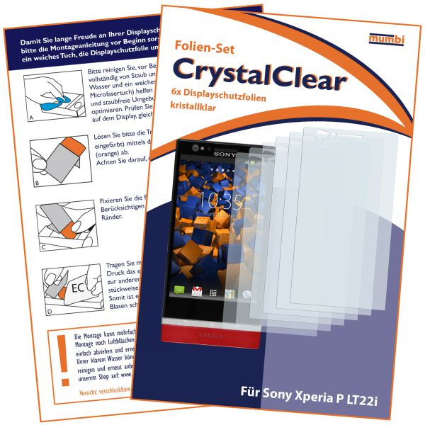 Displayschutzfolie 6 Stck. CrystalClear für Sony Xperia P