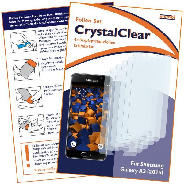 Displayschutzfolie 6 Stck. CrystalClear für Samsung Galaxy A3 (2016)