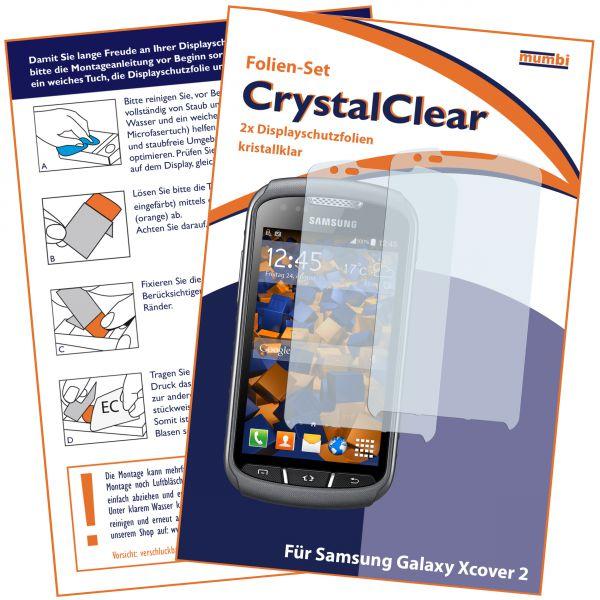 Displayschutzfolie 2 Stck. CrystalClear für Samsung Galaxy Xcover 2