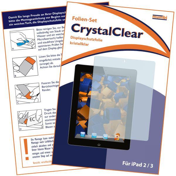 Displayschutzfolie CrystalClear für Apple iPad 2 / iPad 3 / iPad 4