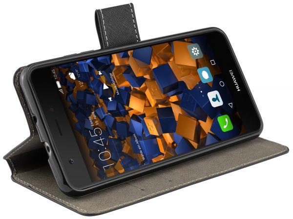 Bookstyle Tasche schwarz für Huawei Nova