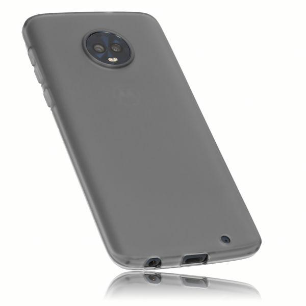 TPU Hülle schwarz transparent für Motorola Moto G6 Plus