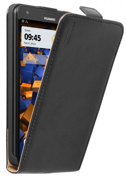 Flip Case Tasche schwarz für Huawei Ascend G750