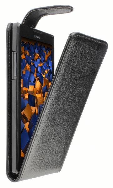 Flip Case Tasche schwarz für Huawei Ascend G700