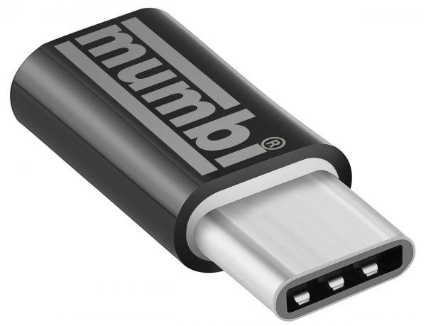 Adapter schwarz USB 3.1 Typ C (Stecker) auf Micro USB (Buchse)