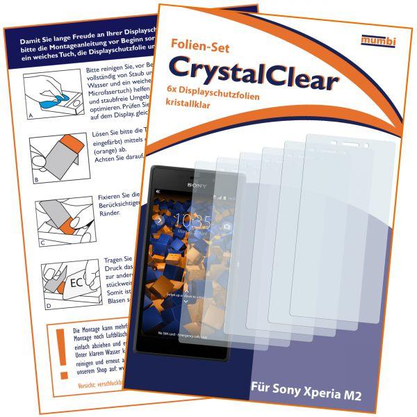 Displayschutzfolie 6 Stck. CrystalClear für Sony Xperia M2