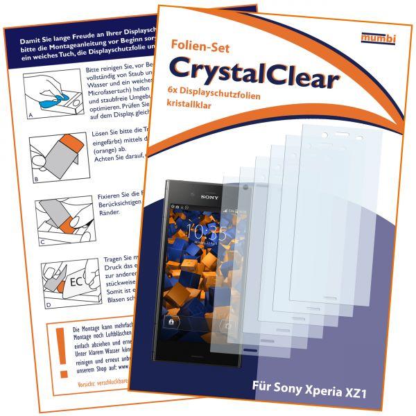 Displayschutzfolie 6 Stck. CrystalClear für Sony Xperia XZ1