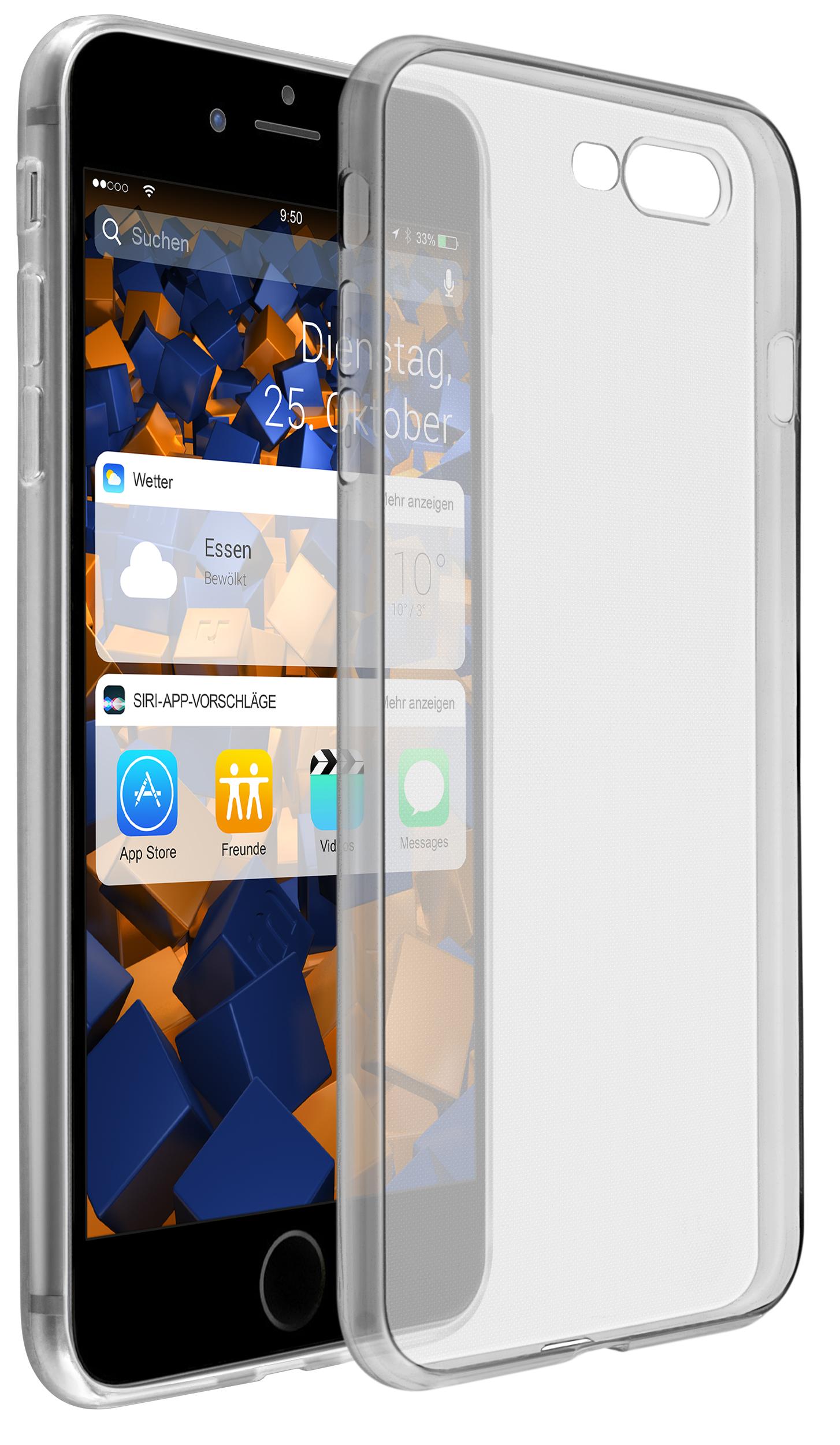 d01a0e368c18d4 Vorschau: TPU Hülle Ultra Slim schwarz transparent für Apple iPhone 8 Plus  / 7 Plus ...