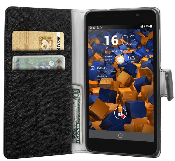 Bookstyle Tasche schwarz für Huawei Honor 6
