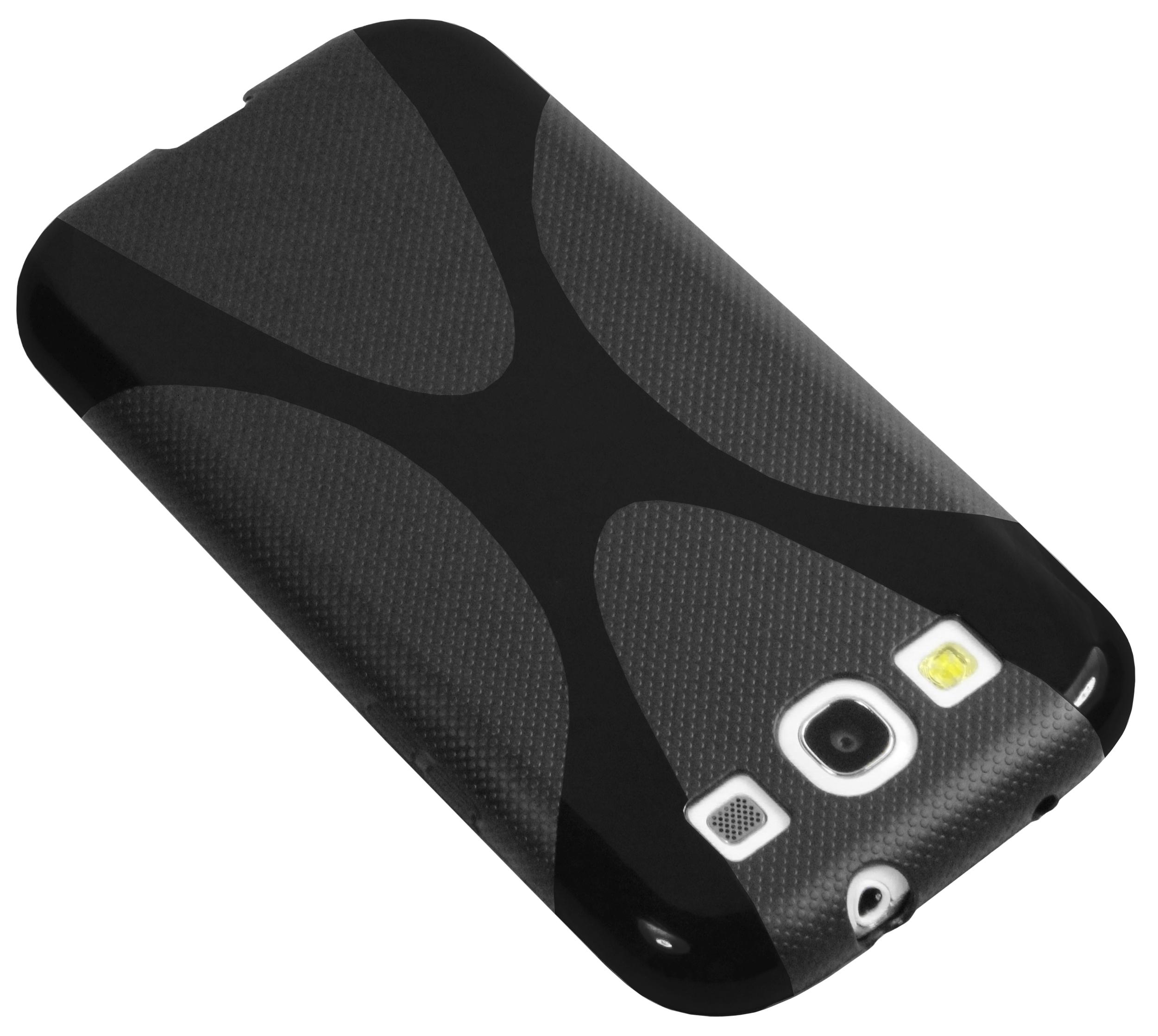 mumbi X-Design TPU Hülle schwarz für Samsung Galaxy S3