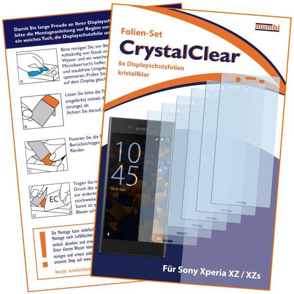 Displayschutzfolie 6 Stck. CrystalClear für Sony Xperia XZ und XZs