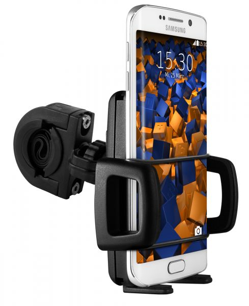 Fahrrad- Motorradhalterung TwoSave und Universalschale für Samsung Galaxy S6 / S6 Duos / S6 Edge