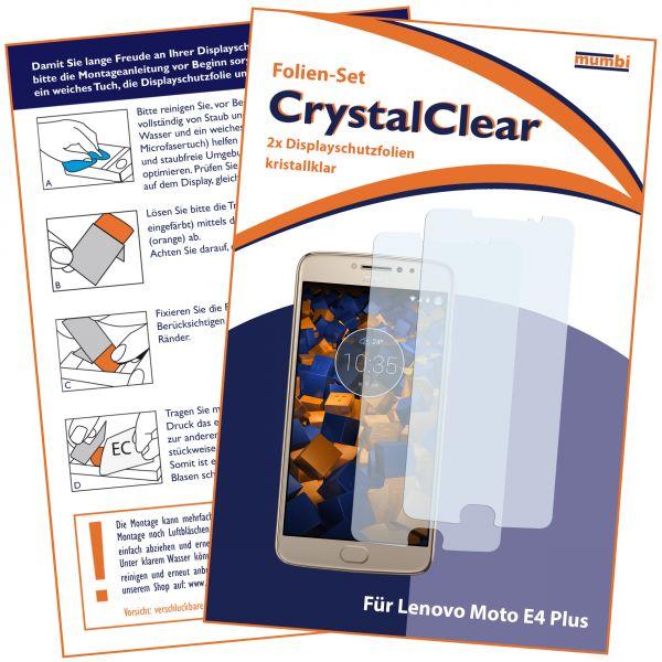 Displayschutzfolie 2 Stck. CrystalClear für Motorola Moto E4 Plus