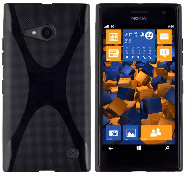 TPU Hülle X-Design schwarz für Nokia Lumia 730 / 735