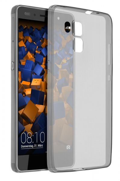 TPU Hülle Ultra Slim schwarz transparent für Huawei Honor 7 / Honor 7 Premium