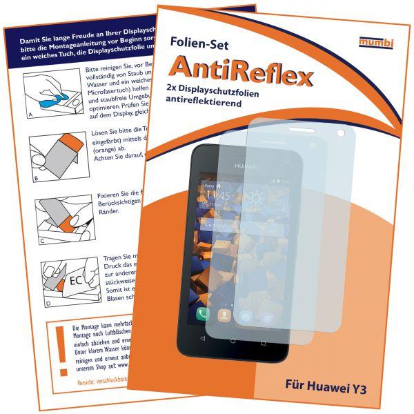 Displayschutzfolie 2 Stck. AntiReflex für Huawei Y3