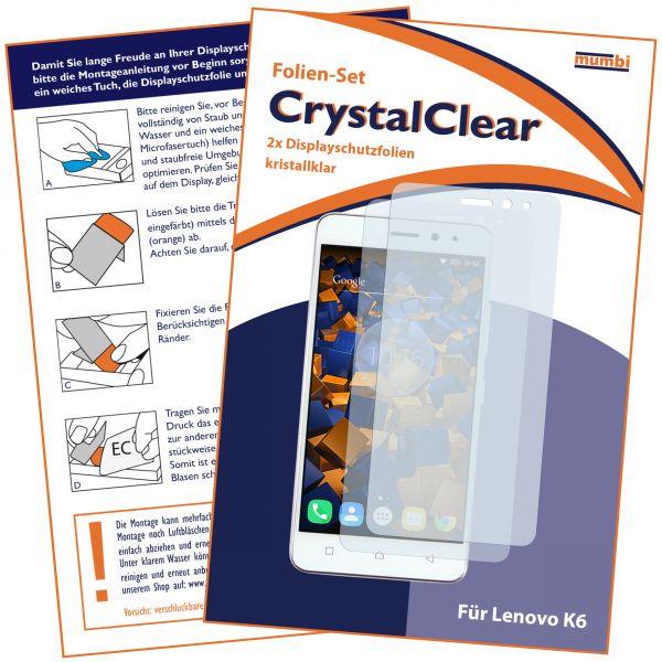 Displayschutzfolie 2 Stck. CrystalClear für Lenovo K6