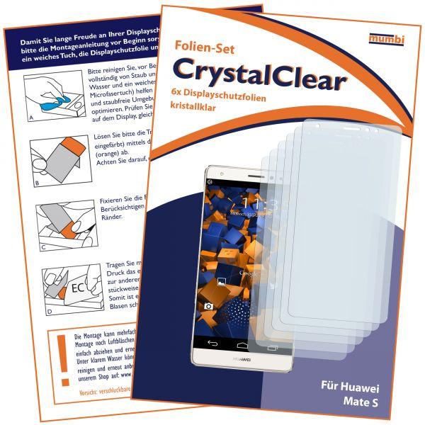 Displayschutzfolie 6 Stck. CrystalClear für Huawei Mate S
