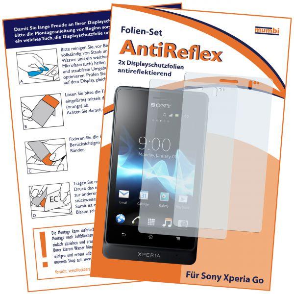 Displayschutzfolie 2 Stck. AntiReflex für Sony Xperia Go