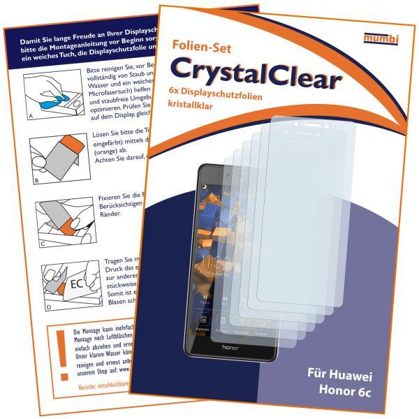 Displayschutzfolie 6 Stck. CrystalClear für Huawei Honor 6C