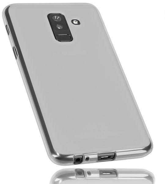 TPU Hülle weiß transparent für Samsung Galaxy A6 Plus