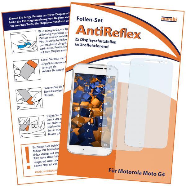 Displayschutzfolie 2 Stck. AntiReflex für Motorola Moto G4