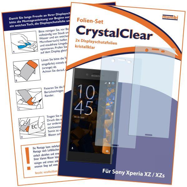 Displayschutzfolie 2 Stck. CrystalClear für Sony Xperia XZ und XZs