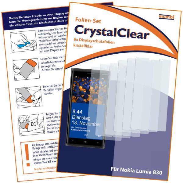 Displayschutzfolie 6 Stck. CrystalClear für Nokia Lumia 830