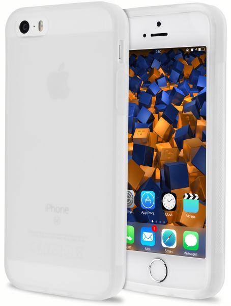 TPU Hülle double GRIP weiß transparent für Apple iPhone SE / 5 / 5s